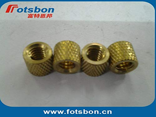 Kunrled Brass,Nature,PEM standrad, Ochoos STKB-0518-24 Thru-Threaded Molded-in Insert