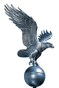 Whitehall Products Flagpole Eagle, Medium, Pewter