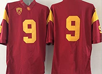 info for 18960 94a8b Men's USC Trojans NO.9 Football Jersey Red XXX-Large: Amazon ...