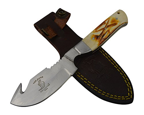 Bone Collector Knife BC804 Fixed Blade Hunting Gut Hook Bowie Skinning Knife