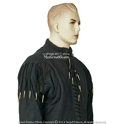 - Medieval Gears Medium Black 15 Century Arming Doublet Jacket Functional Gambeson SCA LARP