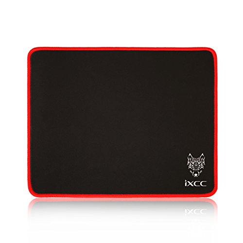Red Line Xiii Game - iXCC [Limited Edition! Final Season Gaming Mouse Pad/Mat with Smooth Silk Surface Stitched Edges, 13 × 10.2 × 0.2 Inches - Black with Red Edges
