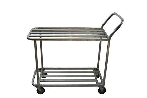(Prairie View WUC2060 Welded T-Bar Aluminum Utility Carts with 2 Tier - 41 x 66 x 20 in.)