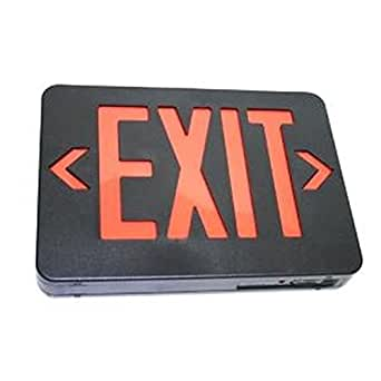 TCP 09118 - 2.4 watt 120/277 volt Black / Red LED Exit Light (22747)