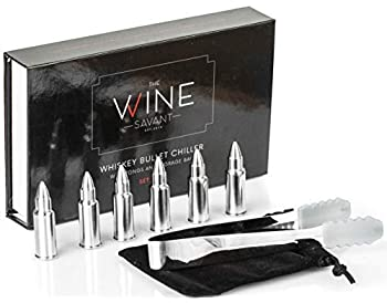 The Wine Savant Bullets Stainless Steel Whiskey Stones