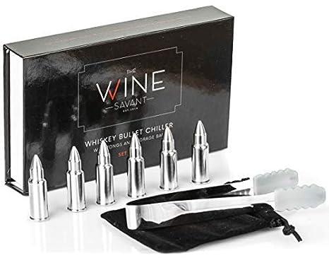 Amazon.com: Whisky piedras balas Conjunto de 6, por el vino ...