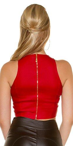 KouCla - Camiseta sin mangas - para mujer Rojo
