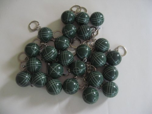 Bocce Ball Keychain - pack of 25 green by BuyBocceBalls