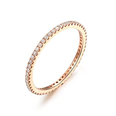 14K Yellow Gold Wedding Band,Full Eternity,Anniversary Band,Diamond Engagement,Thin Matching Band