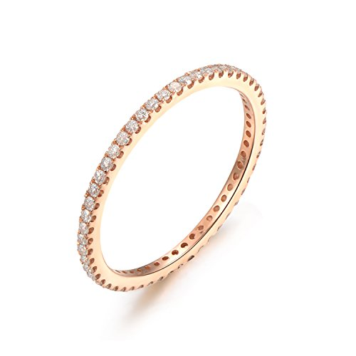 [14K Yellow Gold Wedding Band,Full Eternity,Anniversary Band,Diamond Engagement,Thin Matching Band] (18k Yellow Gold Thin)
