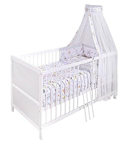 Avanti Trendstore Juego de cama, incluye Cuna Blanca con Colchón y panel, Ca. 70 x 140 cm: Amazon.es: Hogar