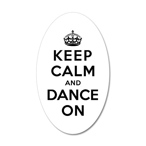 CafePress - Keep Calm And Dance On - 20x12 Oval Wall Decal, Vinyl Wall Peel, Reusable Wall Cling (Wall Decals Keep Calm compare prices)