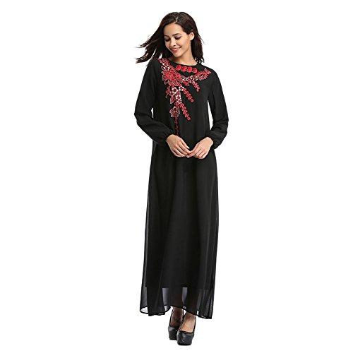 Sleeve Dress Xinvision Dubai Kaftan Ladies Long East Abaya Islamic Gown Ethnic Cocktail Maxi Evening Wedding Muslim Arab Robe Turkey Red Malaysia Middle 7wq7r6xSR