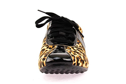 Cole Haan Mujeres Bria Grand Perf Ocelot Haircalf / Negro Sneakers