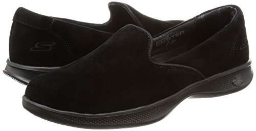 Pour Go Skechers Step Flat indulge Lite Black Femmes Mocassins vOa1wq