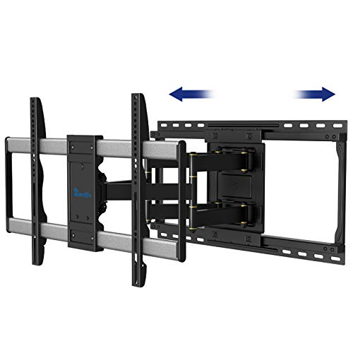 Rentliv TV Wall Mount Swivel Tilt Extend, Ultra Strong Double Arms TV Mount for 26-55 Inch Flat and Curved TVs Up to 45kg, Max VESA 400x400mm Wall Mount TV Bracket