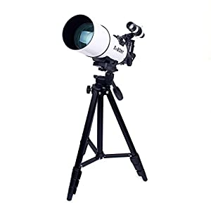 SVBONY SV-Series Astronomy Telescope 60/70/80mm Refractor Telescopeswith Aluminum Tripod for Entry Level Kids Beginners to View the Moon and Plants