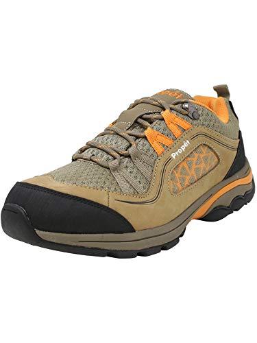 Propet Women's Piccolo Hiking Boot, Gunsmoke/Orange, 6 Wide US