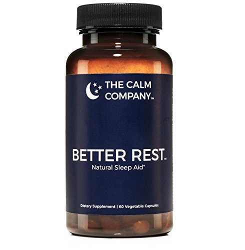 Better Rest - Natural Sleep Aid - Safe, Effective, Non-Habit Forming Herbal Sleeping Pills for Insomnia - Valerian, Melatonin, Chamomile, Tryptophan, L-Theanine & More | Sleep Supplement 60 Vegan Caps