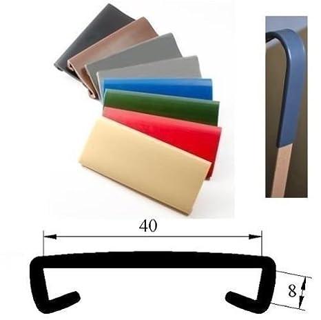 1 M plastique pVC main courante treppenhandlauf 40 x 8 mm-diff/érents coloris beige