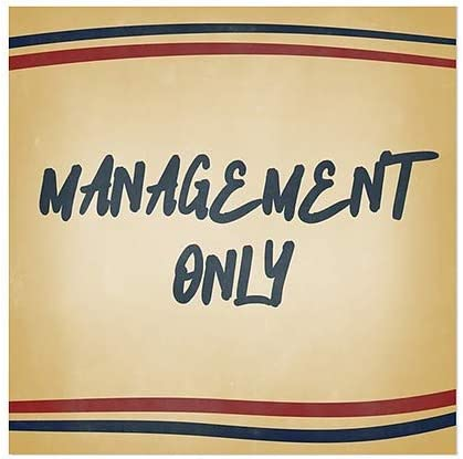 CGSignLab 5-Pack Management Only 24x24 Nostalgia Stripes Window Cling