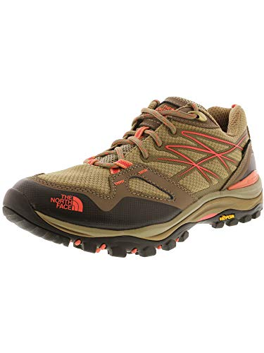 (The North Face Hedgehog Fastpack GTX Hiking Shoe - Women's Cub Brown/Fiesta Red, 8.5)