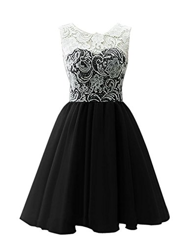 Dress Annie's Black Prom Lace Dress Tulle with Party Dress Short Bridesmaid Bridal Women's gxnrgp