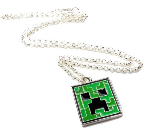Minecraft diamond necklace minecraft bling for girls minecraft diamond pendant necklace jinx minecraft creeper pendant necklace aloadofball Choice Image