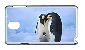 Cute Samsung N9000 cases fashion Family members of the penguins PC White for Samsung Note 3/Samsung N9000