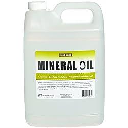 Premium 100% Pure Food Grade Mineral Oil USP, 1 Gallon, Food Safe Butcher Block and Cutting Board Oil