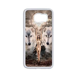 Personality customization Diy Customize Wolf Dream Catcher Pattern Shell Phone Cover Case for samsung galaxy s6 White By CUY Cases