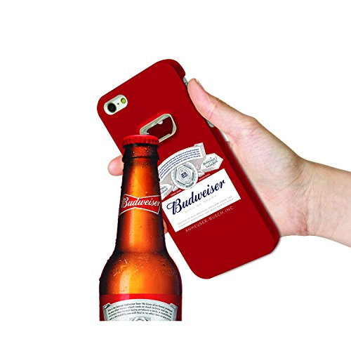 Budweiser Bottle Opener Case for Apple iPhone 6/6s, Ultra Slim-Sleek Design, Premium Protective Case- Budweiser Red (Light Case Coors)