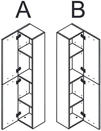 Miroytengo Pack Mueble ba/ño 2 cajones con Espejo Columna y Lavabo Color Roble Alaska Aseo Incluye LAVAMANOS