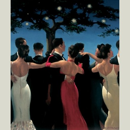 """ Waltzers "" - Jack Vettriano Open Greeting Card - HPC010 HEARTBREAK PUBLISHING"