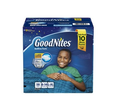 GoodNites Bedtime Underwear for Boys (Size L/XL, 58 ct.)