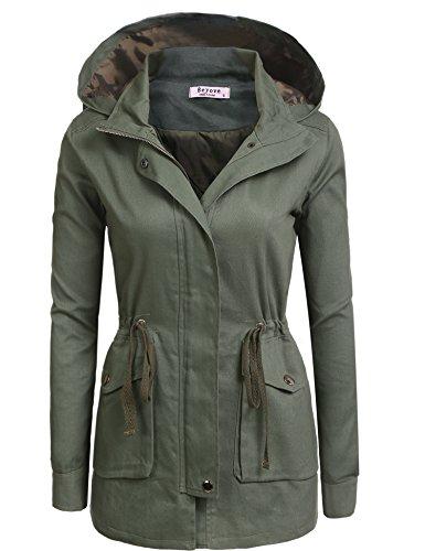Beyove Women's Winter Travel Hoodie Coat Packable Anorak Jac