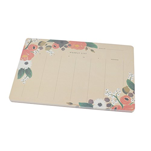 Weekly Calendar Pad : Desk pad calendar for writing paper tear off sheets