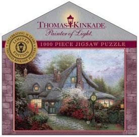 Sweetheart Cottage 1000 piece puzzle by Thomas Kinkade Limited -