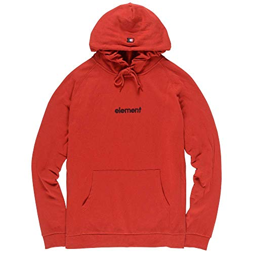 Element Men's Big Hood French Terry Pullover Hoodie Pompeian Red