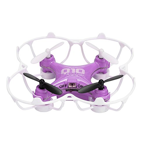 Arshiner CX-10 Mini Drone 6-Axis Gyro 4CH 2.4GHz CF Mode 360° Eversion RC Quadcopter(Purple)