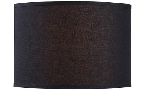 Drum Lamp Shade 16 LINEN BLACK