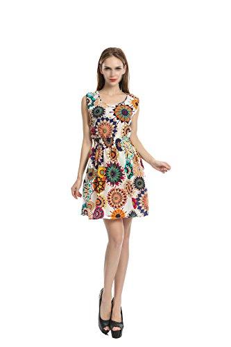 Falda De Chaleco De Impresión De Verano Multi-color Multi-size,Multi-color2-L