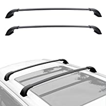 Roof Rack Cross Bar Cargo Carrier for 2015 2016 2017 2018 Toyota Highlander XLE with Factory Side Rails - BLACK Aluminum Alloy