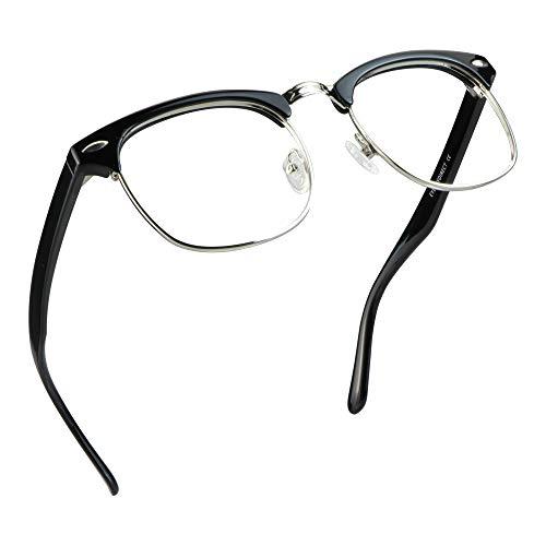LifeArt Blue Light Blocking Glasses, Anti Eyestrain, Computer Reading Glasses, Gaming Glasses, TV Glasses for Women and Men, Anti UV, Anti Glare 0.00(No Magnification)