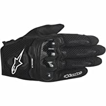 Alpinestars SMX-1 Air Mens Motorcycle Gloves - Black - Large by Alpinestars