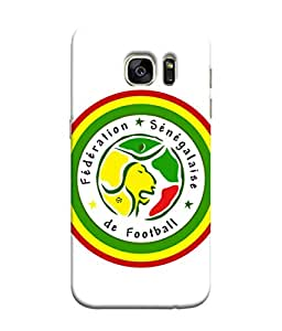 ColorKing Football Senegal 10 White shell case cover for Samsung S7 Edge