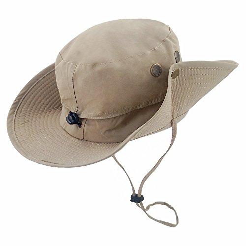 71b1d76e002f1 LETHMIK Outdoor Waterproof Boonie Hat Wide Brim Breathable Hunting Fishing  Safari Sun Hat Beige