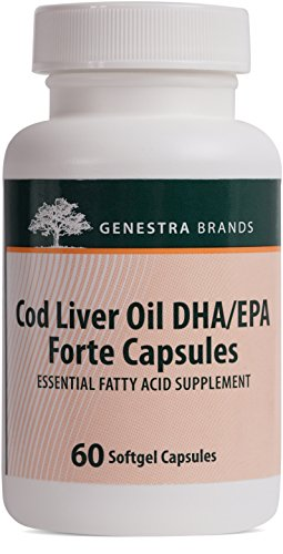 Genestra Brands - Cod Liver Oil DHA/EPA Forte Capsules - Blend of DHA, EPA, and Vitamins A and D - 60 Softgel Capsules