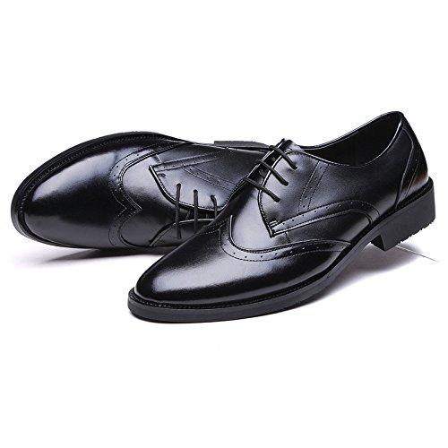 Mano Pelle Fatte Cerniera Black Oxford Scarpe in Sole Fatte A con Pelle Uomo A in Scarpe da Classiche da Stile Mano in TRfxOZwZIq