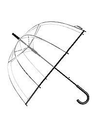 Remedios Automatic Open Transparent Clear Bubble Dome Umbrella with Black Trim